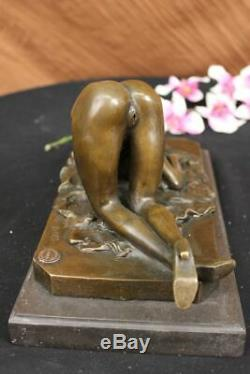 Bronze Semi Nu Érotique Sculpture Statue Figurine Art Femme Fantaisie Deal