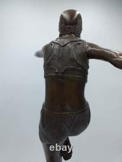 Bronze Signé Phillipe Style Art Déco Danseuse du Feu Con Brio XXème