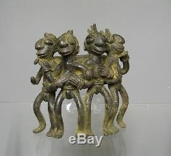Bronze africain. Art tribal ethnique africain. Sculpture