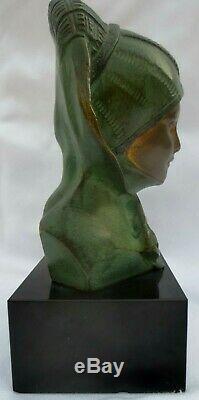 Bronze de G. GARREAU, Sculpture d'un buste féminin Style ART DECO -1930