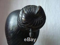 Bronze de Than Le N'GUYEN (1919-2003) Jeune Laotienne au chignon Asie art