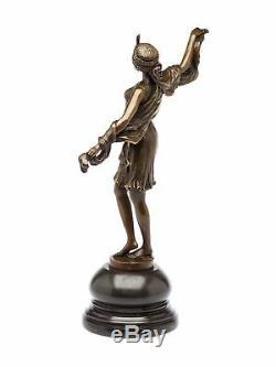 Bronze statue danseuse sculpture en bronze art deco 28 x 40cm