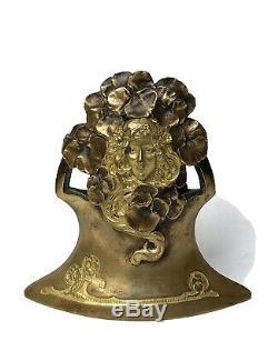 Ch. Korschann Bronze Art Nouveau à Double Patine or Fondeur LOUCHET-Vers 1900