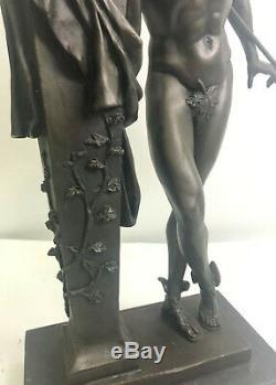 Chair Flying Mercury Bronze Statue Marbre Sculpture Art Déco Romain Mythique