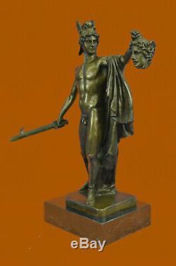 Chair Guerrier Homme Statue Fait à la Main Bronze Figurine Sculpture Décor Art