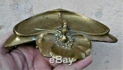 Charles HaironSculpture bronze libellule vide-poche époque art nouveau