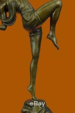 Chasseresse Diana Art Nouveau Musée Bronze Sculpture Statue Figurine Figurine T