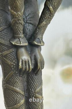 Chiparus Signée Rare Bronze Sculpture Art Déco Danseuse Fonte Figurine Figure