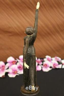 Chiparus Ventre Danseuse Bronze Marbre Sculpture Statue Figurine Fonte Art Gift