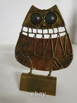 Chouette hibou sculpture jarc art brut vallauris vintage 1970