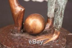 Collectionneur Édition Sol Enfant Gymnaste Bronze Sculpture Art Déco Sport Lrg