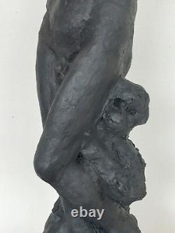 Corpus Statue Sculpture terre cuite couleur bronze Art du Nu 48/17/15cm