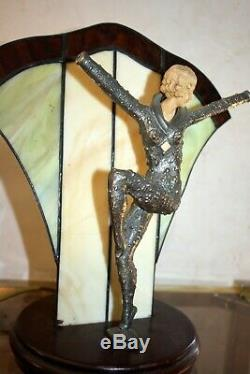 D. H. CHIPARUS DANSEUSE LAMPE Bronze ART DECO belle Sculpture Demetre Dimitri