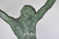 D H Chiparus, Age Du Bronze, Grande Sculpture Signée, Art Déco, XXème Siècle