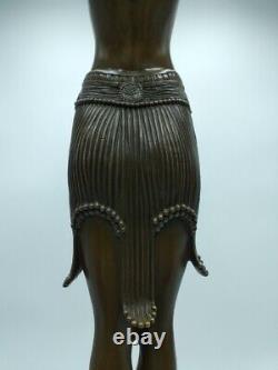 Demeter Chiparus Danseuse Scarabée Égyptienne 75 cm Bronze Style Art Déco