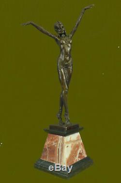 Demetre Chiparus Ventre Danseuse Bronze Master Pièces Art Sculpture Art Déco Nr