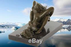 Érotique Bronze Nu Sculpture Verlockung Art Cadeau Vacances + Luxure sur Lesbos