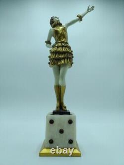Fernand Paris Danseuse au Cabaret Bronze de Style Art Déco Chiparus