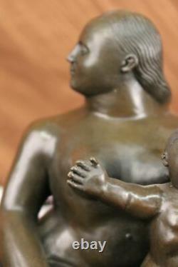 Fernando Botero Mère Et Enfant Art Bronze Sculpture Signé, Collector Solde