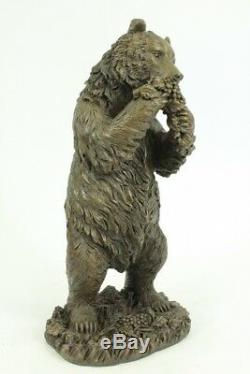 Fonte Métal Bronze Like Ours Grizzly Sculpture Animal Figurine Art Déco Statue