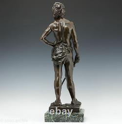 G. Récipon Escrimeur 1890 Rares Élégant Bronze Sculpture Art Nouveau 63 cm