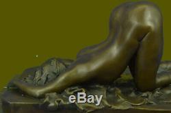 Grand Érotique Nu Femme Bronze Sculpture Nue Figurine Figurine Érotique Art Déco