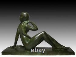 Grande sculpture en bronze La baigneuse par Jean ORTIS époque Art Déco 1925