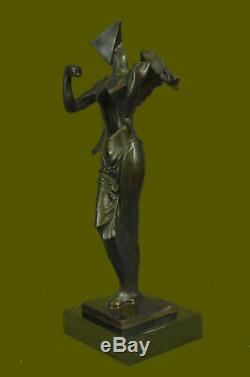 Hommage à Dali par Heavenly Abstrait Art Moderne Ange Bronze Sculpture Figurine