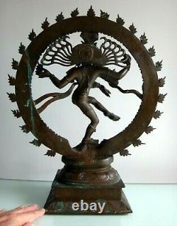 Important bronze Shiva Nataraja Inde 50cm Old large indian art sculpture XIX