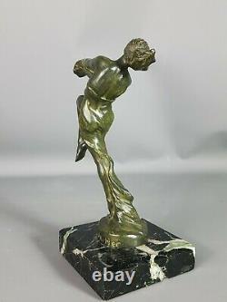 Le Verrier Max (1891-1973) Elégante danseuse Mascotte Art-déco