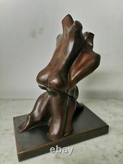 Max FORTI Rare BRONZE ARTICULE XXe Signe Numerote NU ENLACE Patine Couple Art