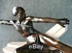 Max Le Verrier Monumentale Sculpture L'Embuscade Art Déco 1930