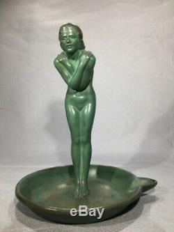 Max Le Verrier sculpture en bronze La baigneuse époque Art Deco