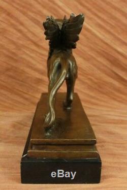 Merveilleux Style Art Nouveau Gothique Gargouille Bronze Sculpture Chaud Cast