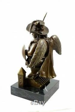 Moderne Art Bronze Sculpture Archange avec Chapeau de Botero