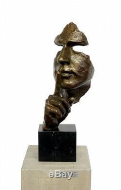 Moderne Art Bronze Sculpture Stille, Signé