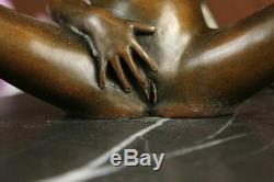 Nu Érotique Sexy Séduisant Femmes Bronze Sculpture Statue Figurine Art