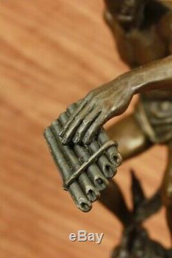 Nu Flying Mercury Bronze Statue Marbre Sculpture Art Déco Romain Mythique Large