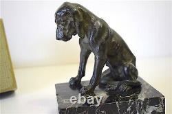 Paire de Bronzes Chiens de Chasse XX 20th Art Déco DOG