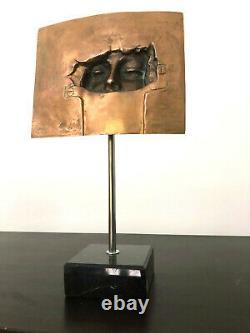 RAF VERJANS 1935 Bronze sculpture Art Contemporain (signé) H 36 cm