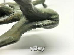Raoh Schorr Paire de Faon en bronze Art-Déco (Royal Doulton)