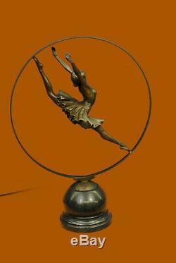 Rare Vitaleh Russe Ballerine Bronze Sculpture Statue Figurine Figurine Art Déco