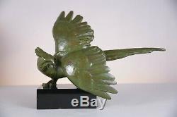 Rare old Art Deco 1930 bronze sculpture signed Alexandre Kelety