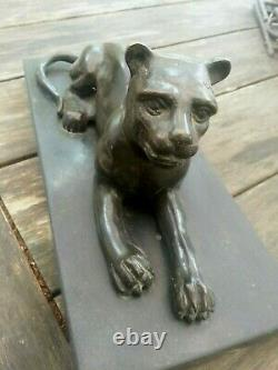 SCULPTURE en bronze ART DÉCO panthère