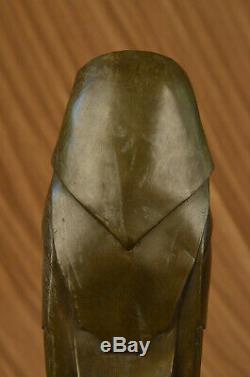 Salvador Dali Abstrait Art Moderne Chouette Bronze Sculpture Marbre Statue Décor