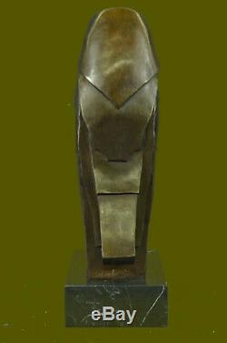 Salvador Dali Abstrait Art Moderne Chouette Bronze Sculpture Marbre Statue Lrg