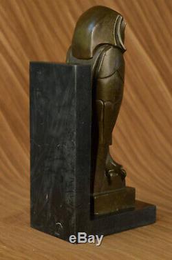 Salvador Dali Abstrait Art Moderne Chouette en Bronze Sculpture Marbre Statue