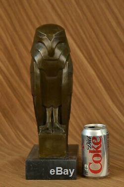 Salvador Dali Abstrait Moderne Art Chouette Bronze Sculpture Marbre Statue House
