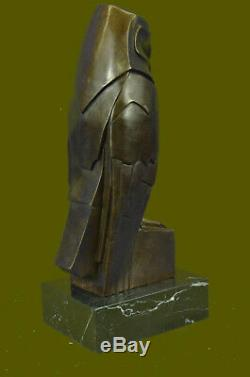 Salvador Dali Abstrait Moderne Art Chouette Bronze Sculpture Marbre Statue Lrg