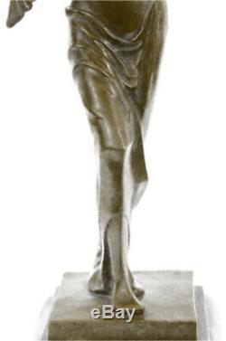 Salvador Dali Bronze Sculpture Ange Signé et Scellé Lost Cire Méthode Art